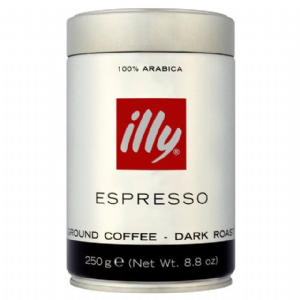 lly Espresso Caffe Macinato Dark Ground Roasted Coffee 250g